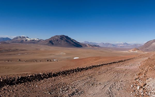 Chajnantor Plateau in the Chilean Andes, Atacama Desert