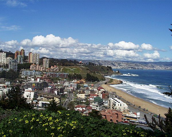 Panoramic view of Renaca, Vina del Mar.