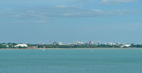 Darwin city skyline from East Point Reserve.