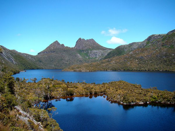 Cradle Mountain Behind Dove Lake, Tasmania