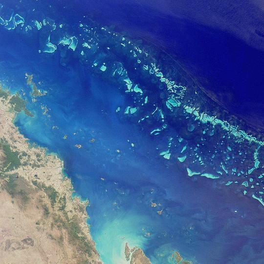 Great Barrier Reef Satelite Photo