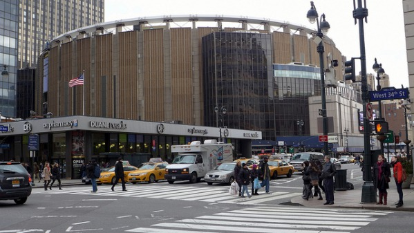 Madison Square Garden photo by Rich Mitchell. License: CC BY 2.0.