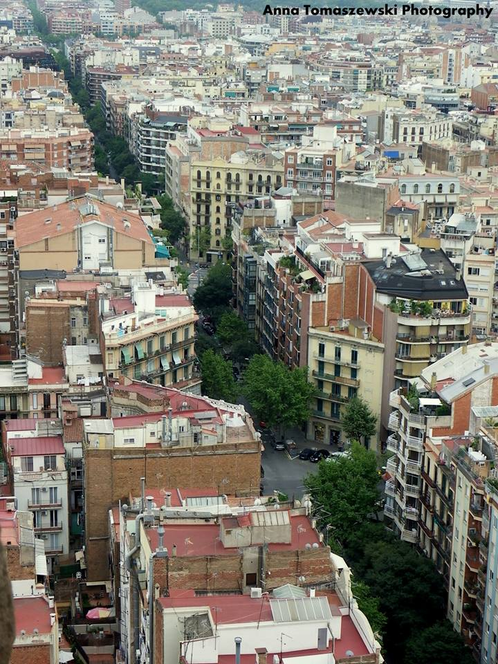 View of Barcelona from La Sagrada Familia tower. Photo by Anna Tomaszewski.