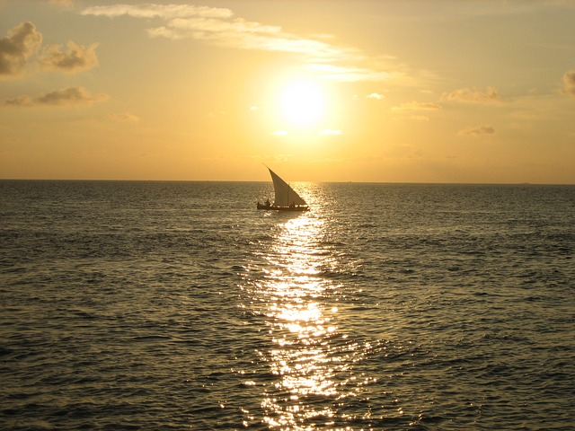 Maldives Sunset Sailing Boat