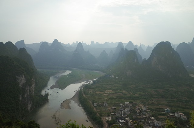 Guilin, China Scenery, Mountains, River