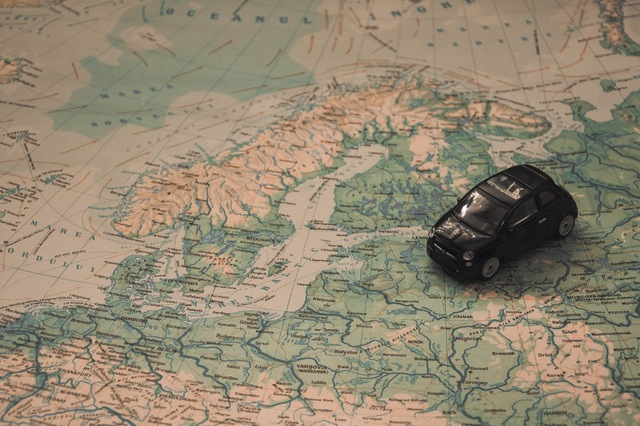 Map Model Car Travel