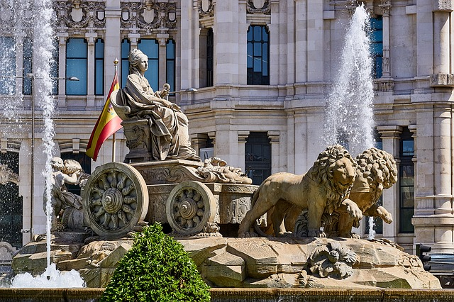Spain Madrid Cybele Statue Fountain