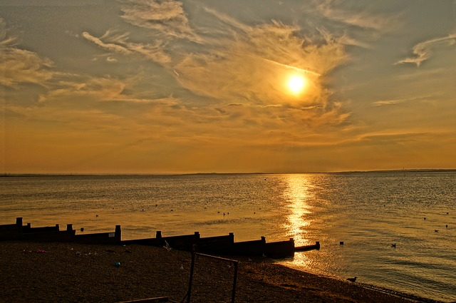 Sunset Whitstable London Uk